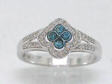 Brillant Ring Weißgold Gold weiße und blaue Brillanten total 0,25ct