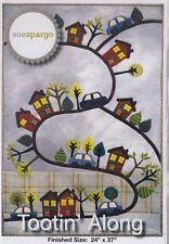 Tootin' Along - applique & embroidery wall quilt PATTERN - Sue Spargo