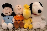 Kohls Care Peanuts Lot of 4 Charlie Brown Woodstock Snoopy Lucy Plush.