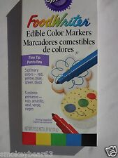 WILTON Food EASTER EGG Writer Edible Color Marker Set of 5 PRIMARY  Fine Tip