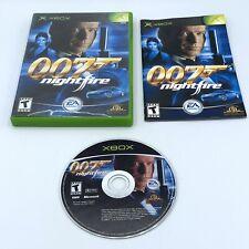 007: NightFire (Microsoft Xbox, 2002) James Bond Complete With Manual CIB