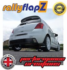 rallyflapZ SUZUKI SWIFT SPORT ZC31S 05-12 Mudflaps Black Logo Red /White 3mm PVC