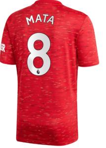 B102 Mens M Manchester United Home Shirt 20-21 Free 8 printing
