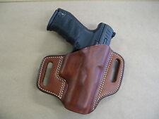 H&K Heckler & Koch VP9, VP40 Leather 2 Slot Molded Pancake Belt Holster TAN RH