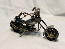 Scrap Metal Motorcycle Figurine, Steel Bike, Nuts and Bolts
