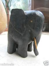 ELEPHANT EN EBENE / AFRIQUE ANNEES 30 /ART DECO/ VOIR AUTRES VENTES ...CONGO ...