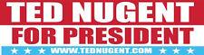 Ted Nugent For President   Vintage Bumper Sticker