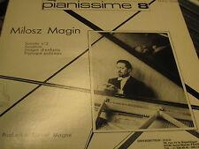 MILOSZ MAGIN SONATA 2 SONATINE IMAGES TRIPTYQUE DANIEL MAGNE PRIVATE FRENCH LP