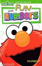 Sesame Street Write-On Wipe-Off FUN WITH NUMBERS Laminated Workbook Ages 4+