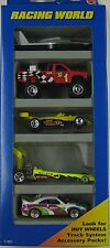 1996 Hot Wheels - RACING WORLD 5 CAR GIFT PACK - 1:64 Scale Diecast Toy Vehicles