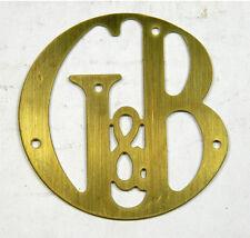 G&B Gilbert & Barker Gas Pump Brass Script ID Tag - ID-115