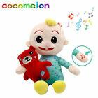 Cocomelon JJ Boy Can Sing Plush Doll Musical Sitting Stuffed Toy Kids Gift 22cm