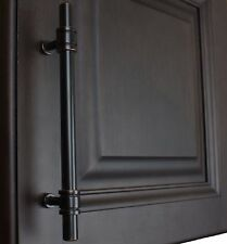 """4340-128-ORB - 5"""" Solid Steel Ring Cabinet Bar Pull Handle Oil Rubbed Bronze"""