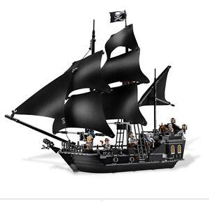 Die Black Pearl Schiff Piraten der Karibik Modell Bausteine Set 804 Stück D L