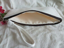10x Eco reusable Blank Bags DIY Canvas Makeup Wash Cosmetic clutch bag Pen Case