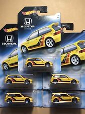 2018 Hot Wheels Honda 70th Anniversary Series '90 Civic EF - Lot of 5 - Walmart
