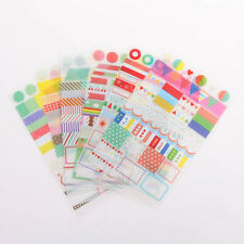 6x Simple Life Calendar Paper Sticker For Scrapbook Calendar Diary Planner Decor