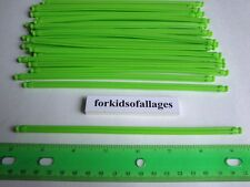 "KNEX BUILDING TOY LOT: 50 Neon Green 7 1/2"" Flexi Rods Flexible 7.5"" Screamin..."