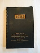 Vintage 1953 National Better Fishing Inc 12 week journal for youths New
