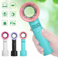 Electric Bladeless Air Cool Fan Portable Cordless USB Charging Mini Handheld Fan