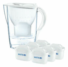 BRITA Marella Cool Water Filter Jug and 6 Maxtra+ Cartridges - White