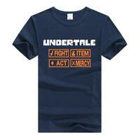 Game Undertale Men Women Short Sleeve T-Shirt Crew Neck Casual Tee Shirts Tops