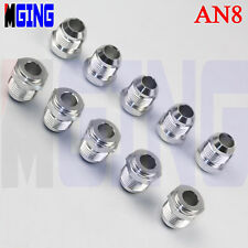 10 x AN8 -8 AN AN-8  Male Aluminum Weld On Fuel Bung Fitting Adaptor Silver 10ps