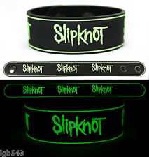 MIP-SLIPKNOT Rubber Bracelet Wristband Glows in the Dark with adjustable snaps