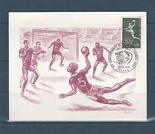 grande carte 1er jour  championnat de hand-ball   1970