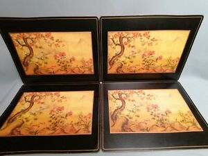 vintage extra large pimpernel x 4 placemats oriental design cherry blossom
