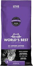 New listing World's Best Cat Litter Scented Multiple Cat Clumping Formula net weight 28 lbs