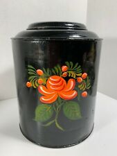 antique hand painted tea tin