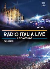 Radio Italia Live Il Concerto Milano Palermo 2 CD + DVD  Nuovo Sigillato