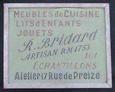 Ancien PANNEAU ENSEIGNE MAGASIN Jouet BRIDARD artisan rue de Preize TROYES ?