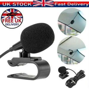3.5mm External Microphone Car Head Unit Radio Stereo Slim Mic Jack Bluetooth 3m