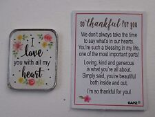e Mom I love you with all my heart POCKET TOKEN CARD Love Inspirations Ganz