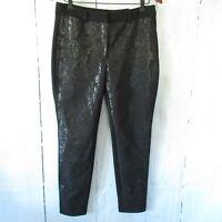 New White House Black Market Pants The Skinny 8 Black Damask Ankle Crop