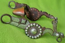 FLEMING Outstanding Sweet Iron STERLING Silver Inlay & Overlay BIT~SALINAS Mouth