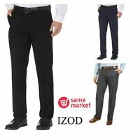 NEW!! IZOD Men's Performance Stretch Straight Dress Pant Size & Color VARIETY!!!