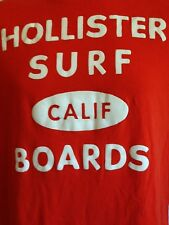 VINTAGE HOLLISTER SURF BOARDS ORANGE T SHIRT SMALL