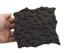 Bunta Tampon bois impression Textile Batik 16cm antique Inde Cachemire 8924 CLO9
