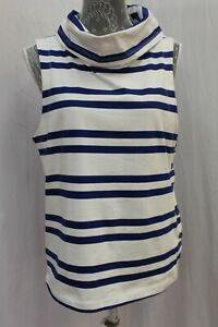 NWT Maeve Anthropologie Cowl Neck Sleeveless Striped Top Tunic M