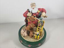 """Ertl Coca-Cola 6¾"""" Santa Christmas Mechanical Coin Money Bank, Elf, 1994"""
