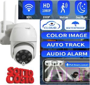 TELECAMERA WIFI IP WI-FI ESTERNO IP66 2 MPX 1080P REGISTRA SD CARD WIRELESS 4MM