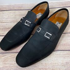 Moreschi Mens Loafers Sahara Black Luxury Dress Shoes Sz 8 US Made In Italy