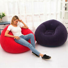 Inflatable Chair Sofa Blow Up Seat Gaming Lounger Couch Outdoor Camping Lazy Bag