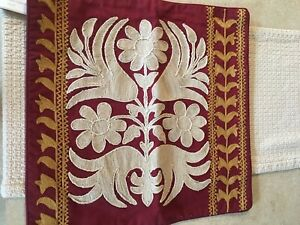"""Pottery Barn Bremen Embroidered 18"""" Pillow Cover"""