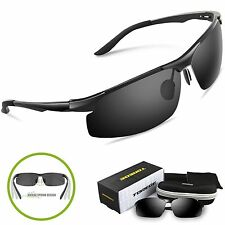 Torege Men's Sports Style Polarized Sunglasses Driver Glasses Unbreakable Frame