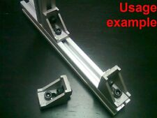 Aluminum T-slot profile 90 deg corner bracket 20x20-6mm + screws + T-nuts, 8-set