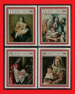 ZAYIX - 1969 Samoa 317-320 MNH - Christmas Paintings by El Greco & others
